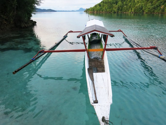 Togean Islands Arriving at Pulau Papan after a long drive by local boat.