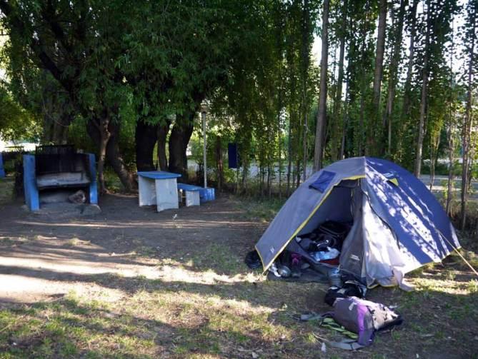 AMSA camping, El Calafate. Perito Moreno backpacker's guide