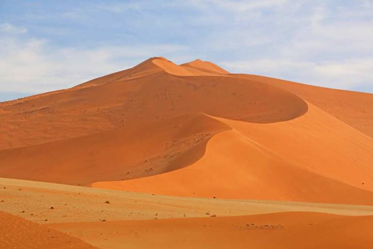 Stunning red sand dunes in Sossusvlei, Namibia