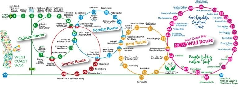 West Coast Way map