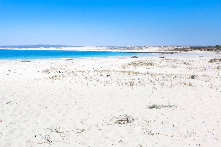Stunning white-sand beaches on the West Coast near Paternoster