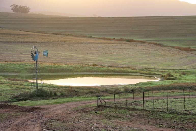 Morning scenery along the Route 62, South Africa