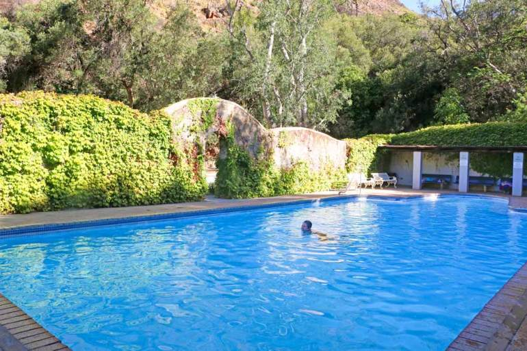 An outdoor thermal pool at the Baths a hidden paradise near Citrusdal a great place for a romantic escape