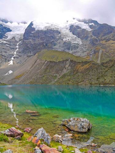Humantay Lake one of the most beautiful lakes in Cusco can be visited as a day hike