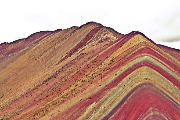The Rainbow Mountain on the Ausangate Trek Peru