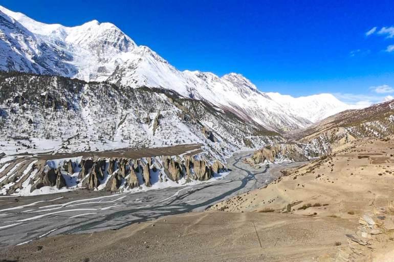 Mountain scenery on the Annapurna Circuit, Nepal