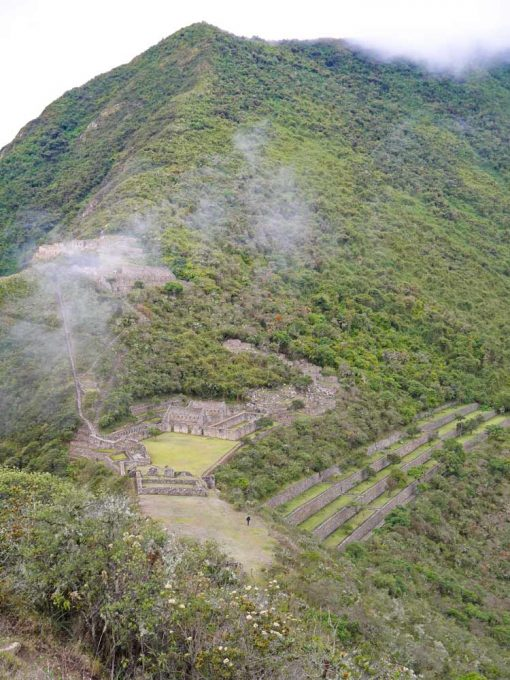 The main Choquequirao ruins from the view-point