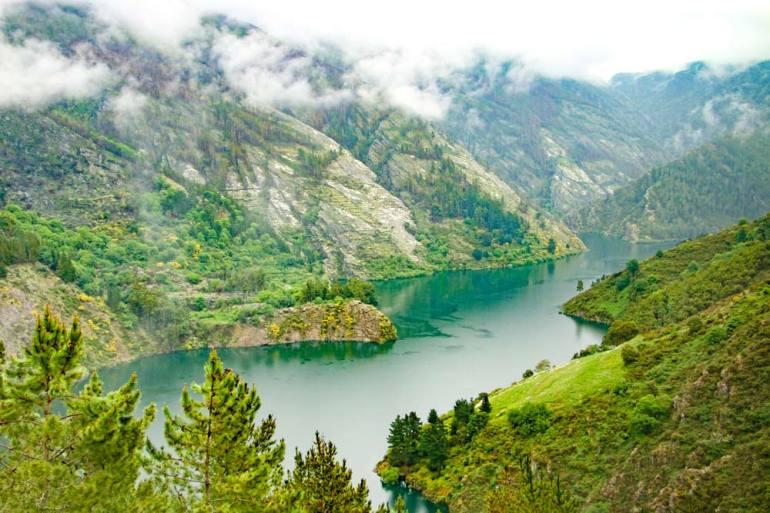 Embalse de Salime, a stunning emerald lake on the Camino Primitivo