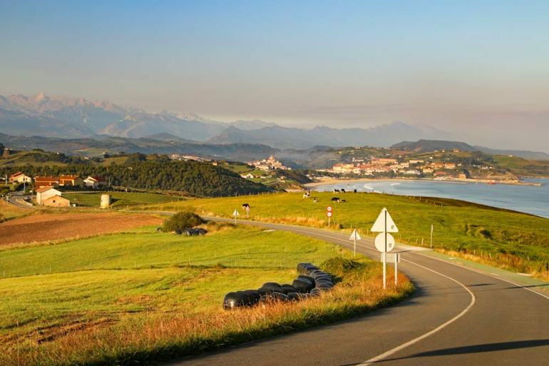 A beautiful coastal scenery in Asturias on the Camino del Norte route