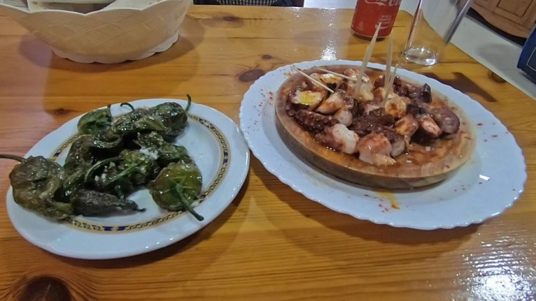 A must-try Galician food on the Camino Pimientos de Padron and Pulpo a la Gallega