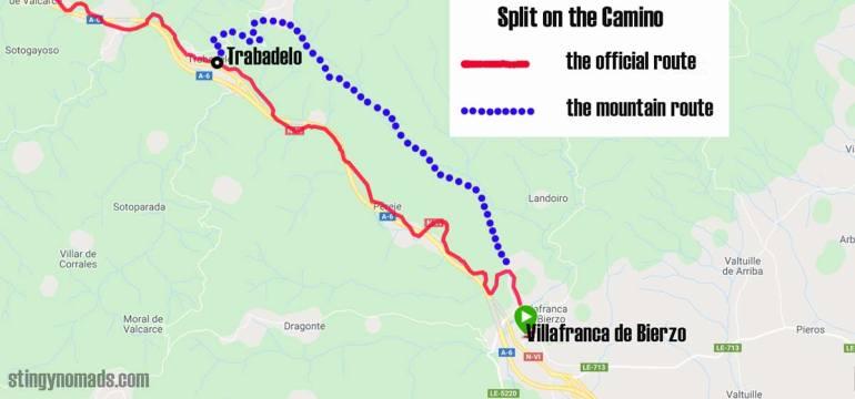 Split on the Camino after Villafranca
