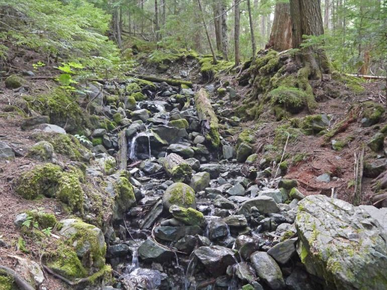 Small creek on the way where you can refill your bottle