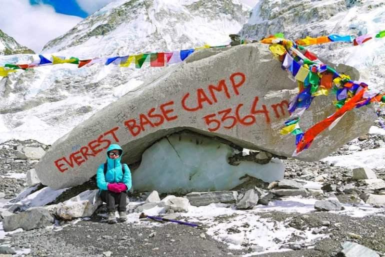 Alya at Everest Base Camp