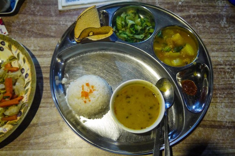 Dal Bhat the local staple
