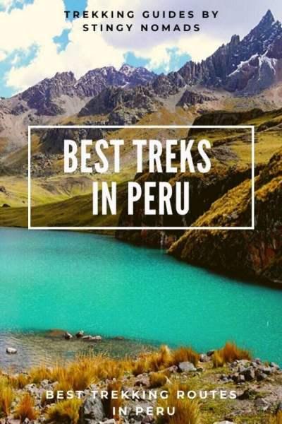 Best trekking routes in Peru pin
