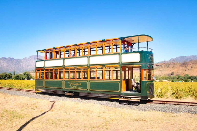 Franschhoek wine tram is a great way to do wine tasting in the area