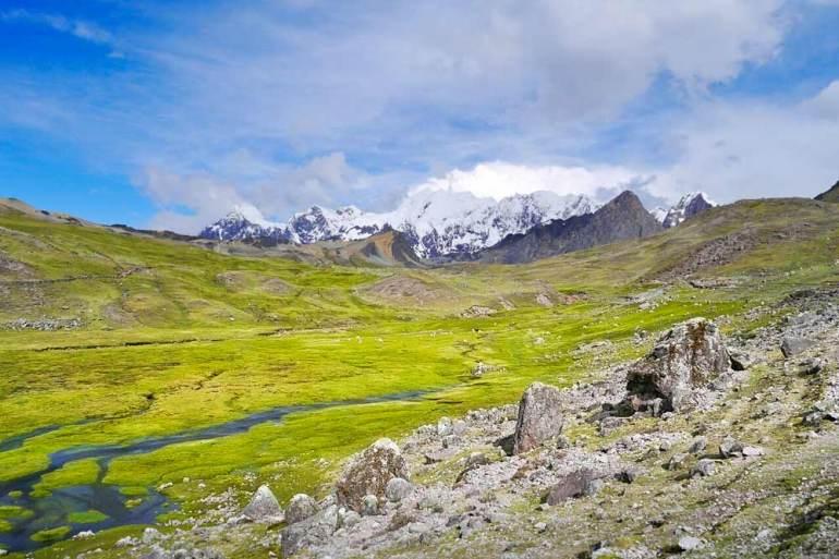 Fantastic landscape on the trek