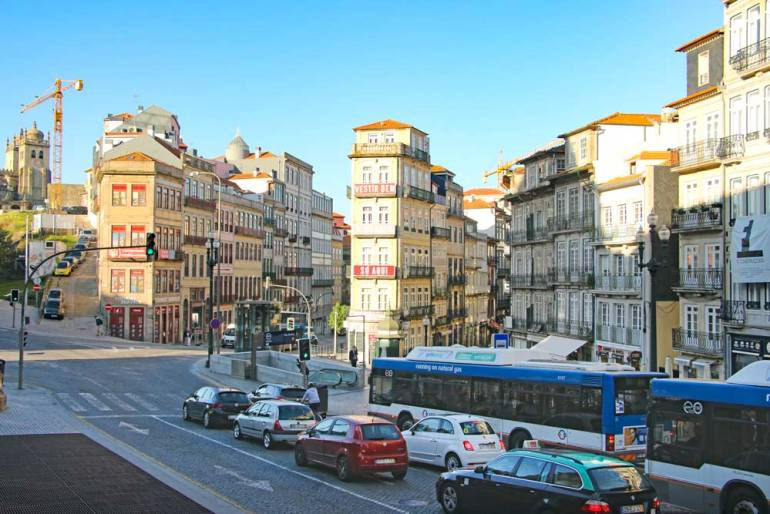 Historical buildings in the center of Porto