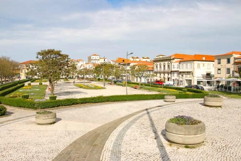 The historical center of Vila do Conde, Portugal