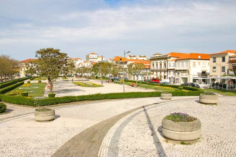 The historical center of Vila do Conde, Portugal