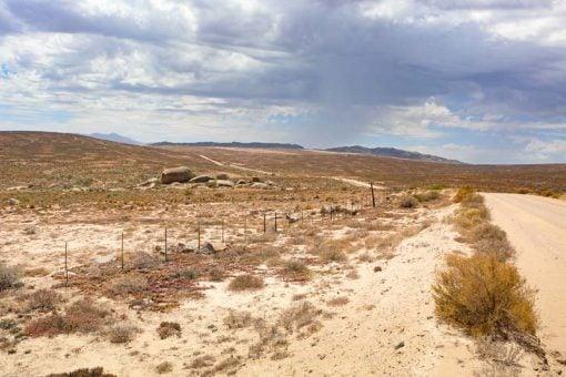 Desert-like scenery in Namaqualand in summer
