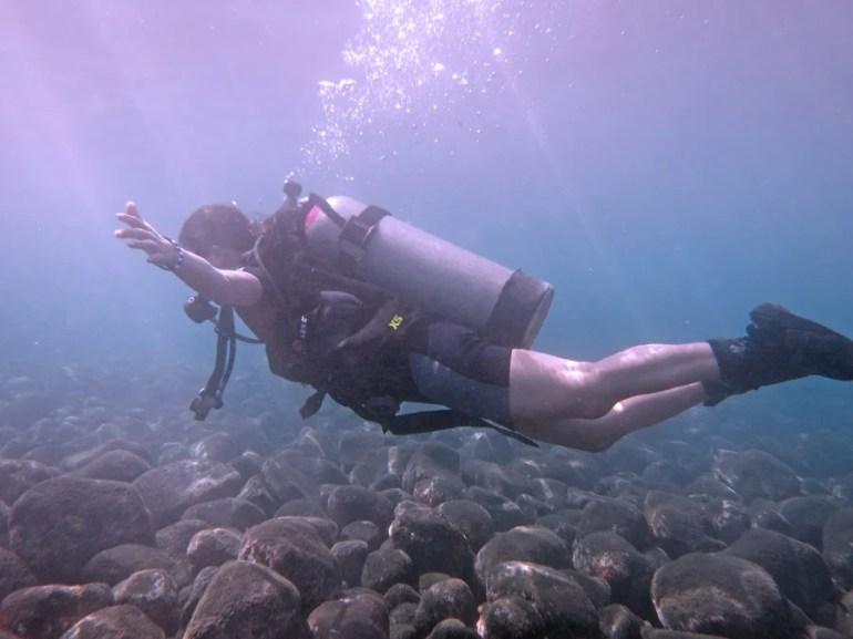 Liberty wreck dive bali safety stop