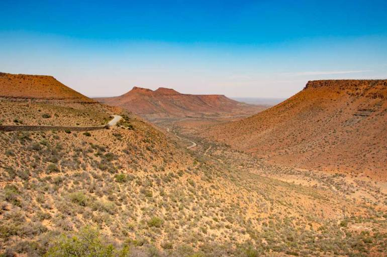 The scenery in the Karoo National Park one of the attraction in the Northern Cape
