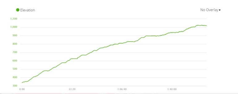 India Venster climb elevation profile