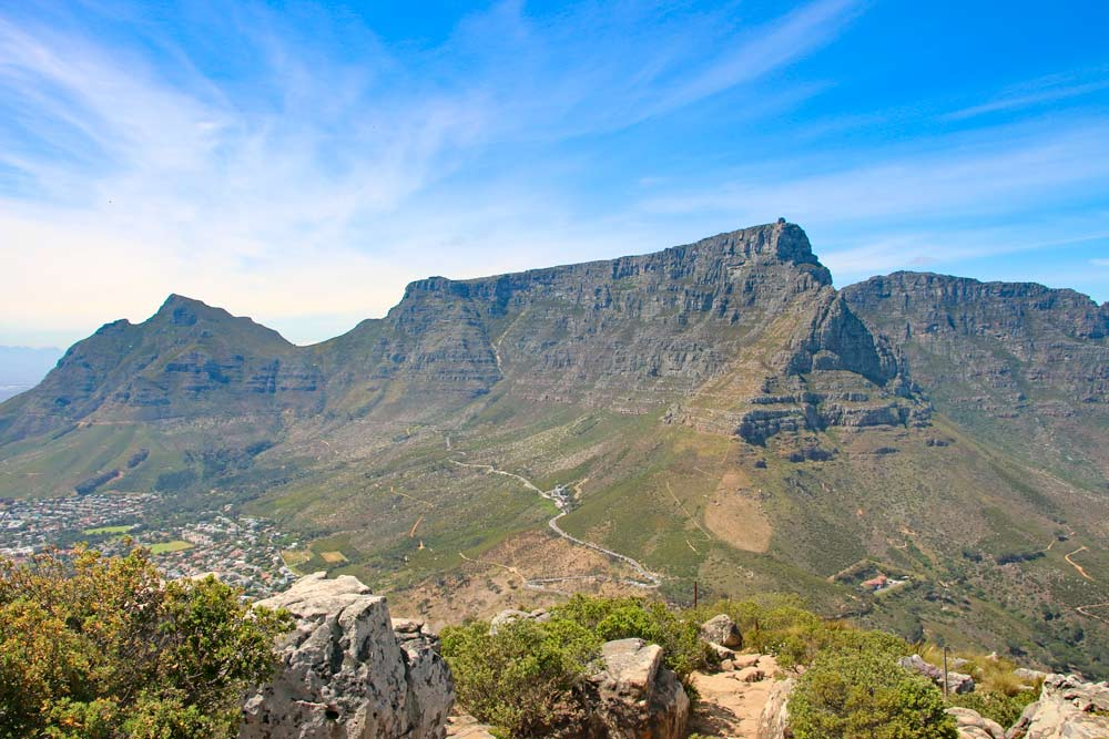 View of Table Mountain and Cape Town from Lion's Head
