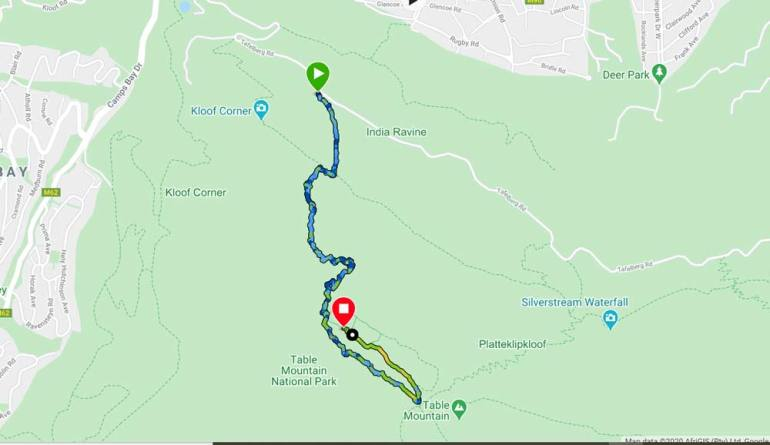 India Venster trail map