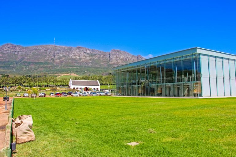 The beautiful glass cellar at Constantia Uitsig on this awesome estate.