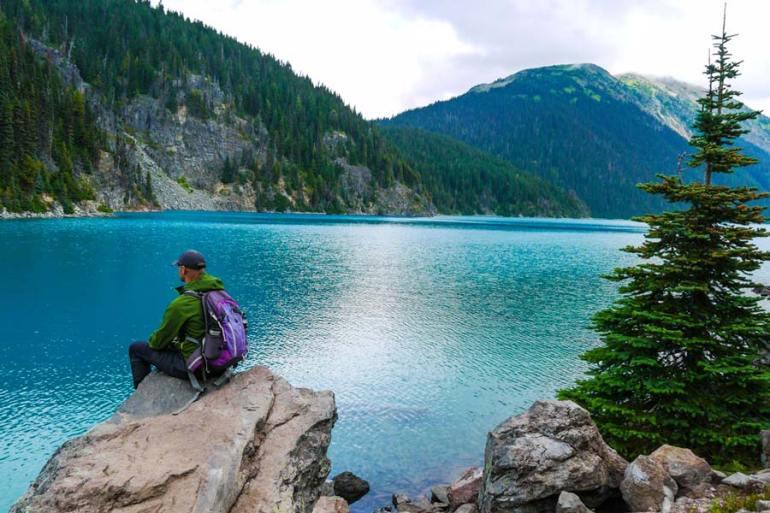 Hiking to Garibaldi lake near Whistler and Squamish