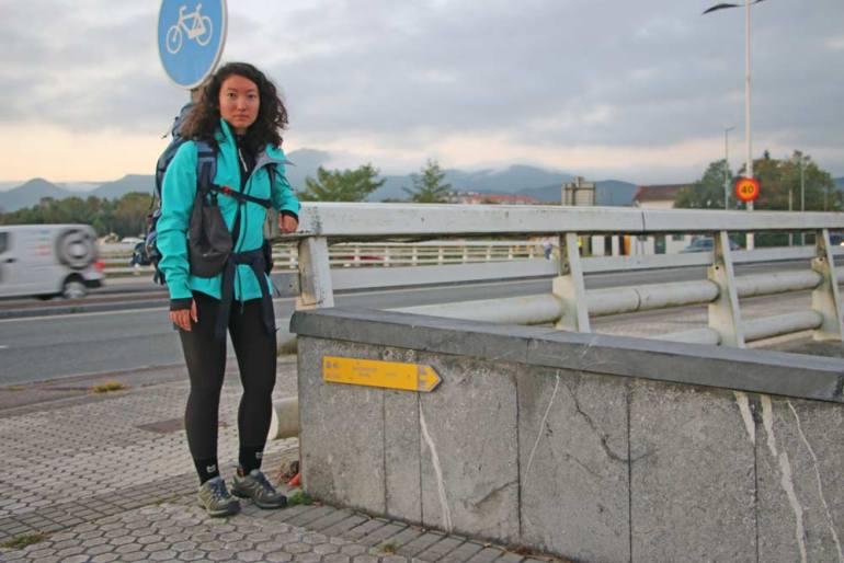 Alya before walking the Camino del Norte