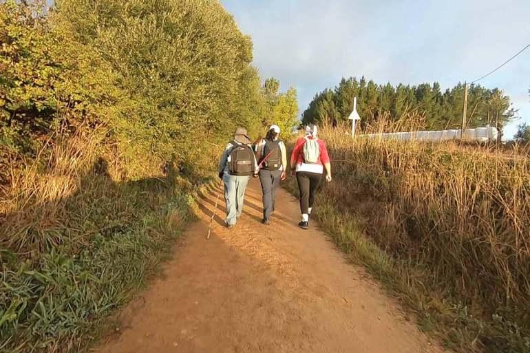 Pilgrims training for the Camino