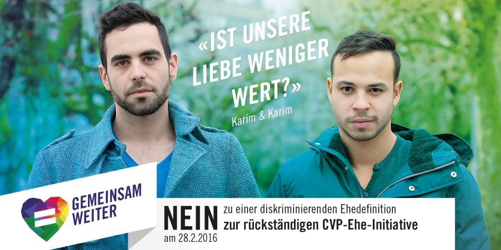 Nein zur teuren und rückständigen CVP-Ehe-Initiative