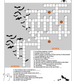 Halloween Crossword Puzzle Worksheet   Printable Worksheets and Activities  for Teachers [ 2339 x 1654 Pixel ]