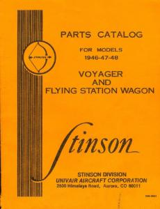 Parts catalog cover