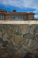 Wall and house