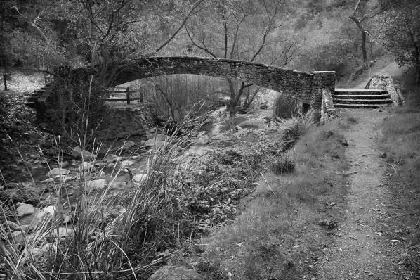 Graceful stone bridge over Penitencia Creek