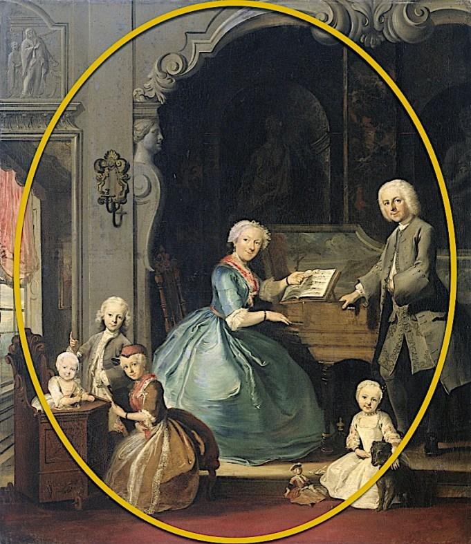 Cornelis Troost, Familiegroep bij klavecimbel, 1739