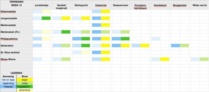 Stinzenflora-monitor 2015 week 13