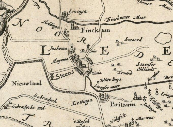 Kaart 'Beschryvinge van de heerlyckheydt van Frieslandt'