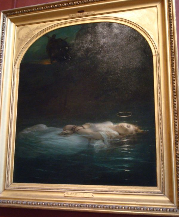 Louvre Painting of Woman Floating
