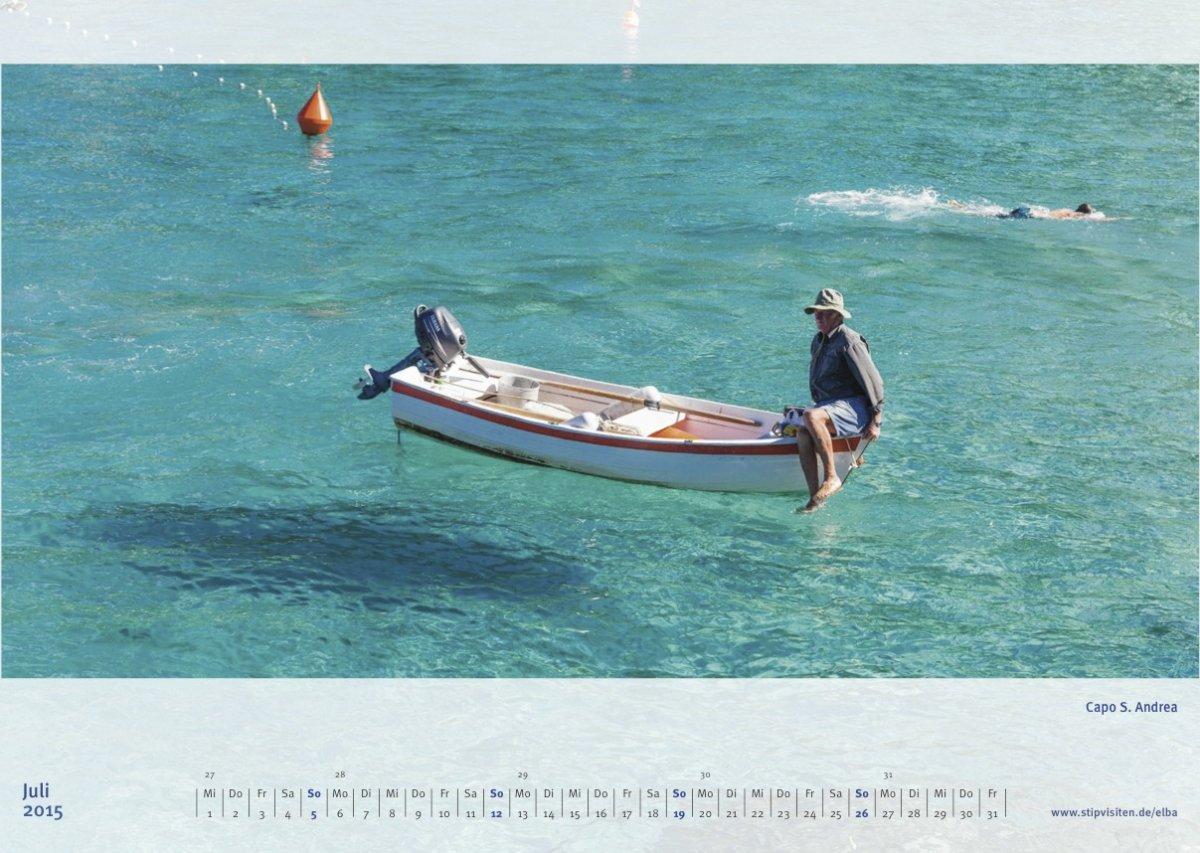 Juliblatt Kalender 2015 –Elba