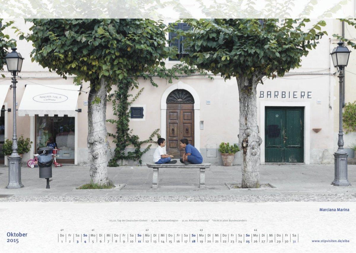 Oktoberblatt Kalender 2015 –Elba