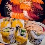 Köstliche Sushi und Sashimi zum Sattwerden