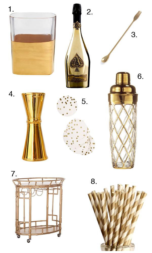 Holiday Gift Guides: Gold // stirandstrain.com