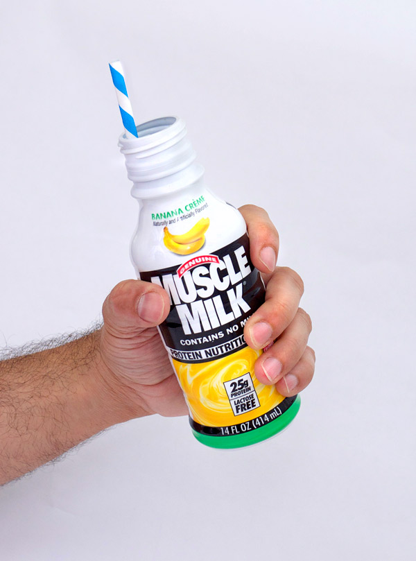 Low Rent Cocktail of the Month: Muscle Milk-Nog // stirandstrain.com