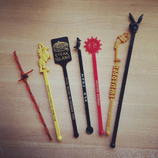 Very, very early birthday gift of ancient stir sticks.