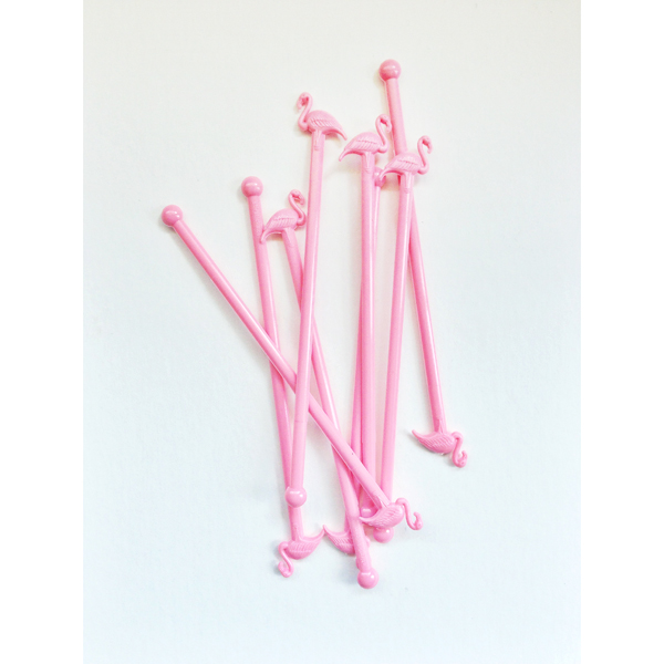 Flamingo Drink Stirrers- Booze News // stirandstrain.com